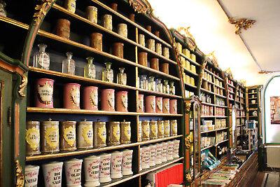 Alte Pharmazie Holzdose 18. Jhdt. Standgefäß aus Apotheke, gedrechselt 5
