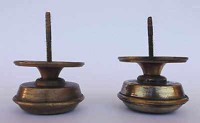 Vintage Pair Of Brass Handle/knobs 9