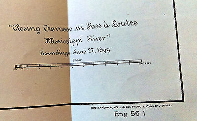 1899 Mississippi River Closing Crevasse in Pass a Loutre Map 2