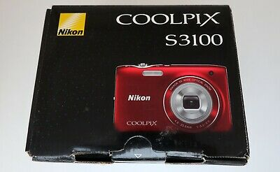 NIKON COOLPIX S3100 14mp 4,6-23,0mm. Wide 5x zoom Nikkor HD movie 2,7-in LCD VR 3