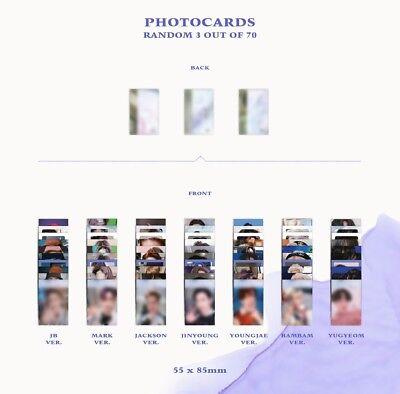 GOT7 3rd Album [Present : YOU] CD+64p Photobook+3p Photocard+Lyrics Postcard 7