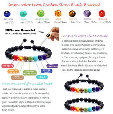 Natural Stone Bead Bracelet Men Women Tiger Eye Turquoise Bangle Jewelry Gift 10
