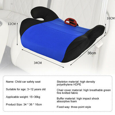 Car Booster Seat Chair Cushion Pad For Toddler Children Child Kids Sturdy 3
