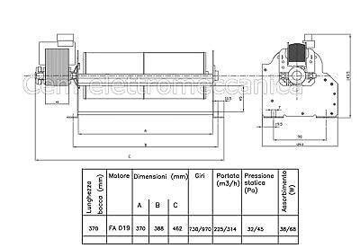 Ventilatore Tangenziale ø 80 mm TRIAL 8A137B-001 2 velocità Per termoconvettore 4