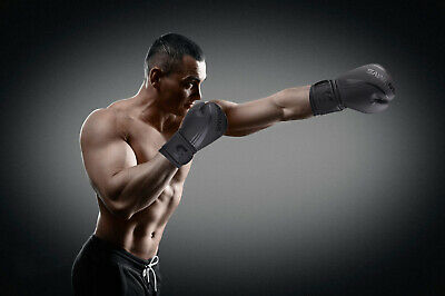 SAWANS® Leather Boxing Gloves Professional MMA Sparring Punch Bag Training Fight 4