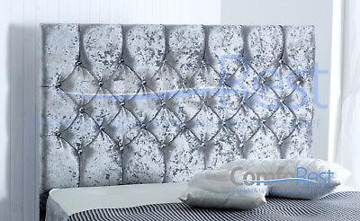 ULTRA MODERN CRUSHED VELVET DIVAN BED iBEX Plus, 3ft/4ft/4ft6/5ft, MADE IN UK 4