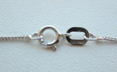 New 1/4ct (.25ct) Diamond Solitaire 9ct White Gold Pendant & Chain £125