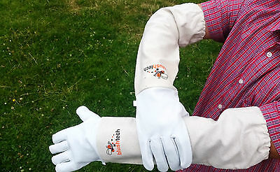 Beekeeping gloves Beekeeper protective Bee gloves 100% Leather & Cotton Zean 7