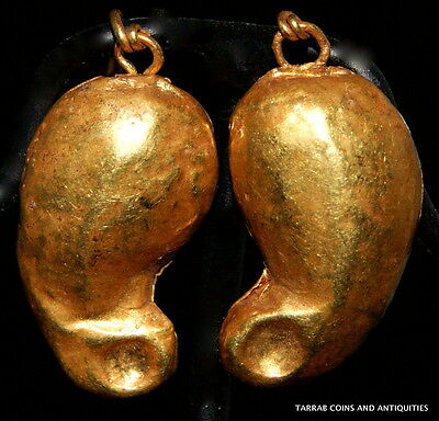 Ancient Roman Gold Earrings 2Nd - 3Rd Century A.d. Choice Condition! 3