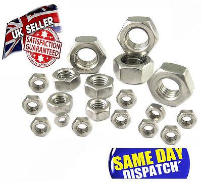 Full Nut Marine Grade A4 Stainless Steel Standard HEXAGON HEAD NUTS 7