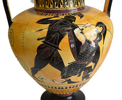 Achilles and Penthesileia - Ancient Greek Amphora Vase- British Museum Replica 3