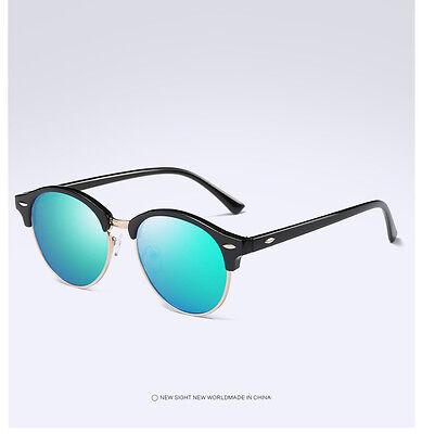 Fashion Vintage UV400 Outdoor Shades Women Mens Retro Round Polarized Sunglasses 11