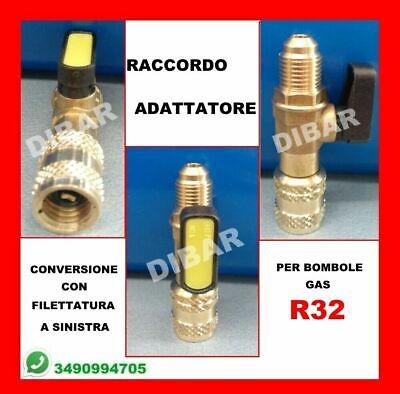 Bombola Di Gas Refrigerante R32 Da 1 Litro Net. 800 Gr + Raccordo Adattatore 2