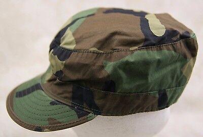 a4ebaf0c6d2 1 of 3 Genuine Us Army Patrol Cap Woodland Camo Cold Weather Insulated W   Ear Muffs
