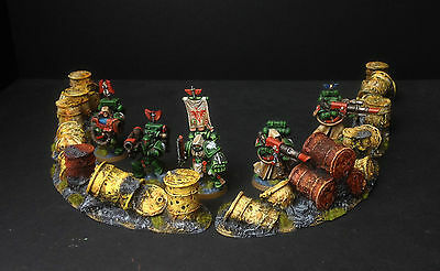 sci-fi and Post Apocalyptic games Twelve Ruined Barrels Scenery for 40K