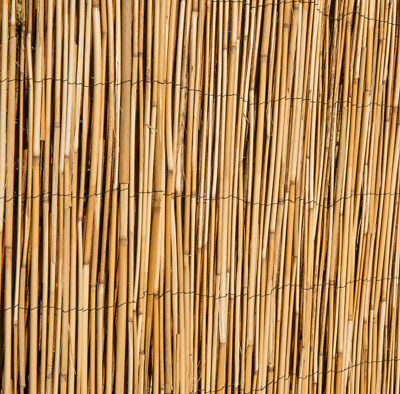 Natural Peeled Reed Screening Roll Garden Screen Fence Fencing Panel Wooden 4m 5