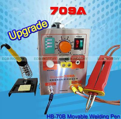 1.9KW 110V 60A LED Dual Pulse Spot Welding Welder Battery Charger +Foot Pedal 2