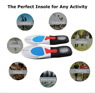 2X Arch Support Shoe Insoles Pain Relief Plantar Fasciitis Orthotic Inserts Pads 2