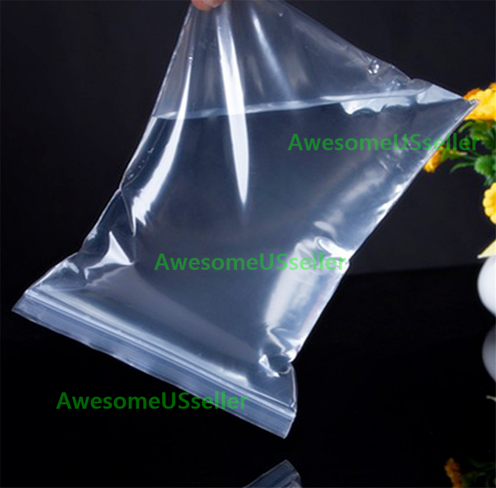 Clear 4Mil Ziplock Bags HEAVY-DUTY Reclosable Zip Lock Plastic Zipper Poly Small 2