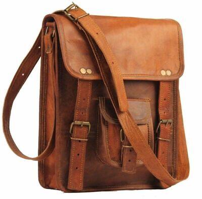 Aktentasche Umhängetasche Lehrertasche Schultasche Leder Tasche spitze Indian 6