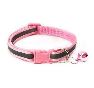 Reflective Dog Cat Kitten Collar Pet Puppy Adjustable Harness with Bell 7