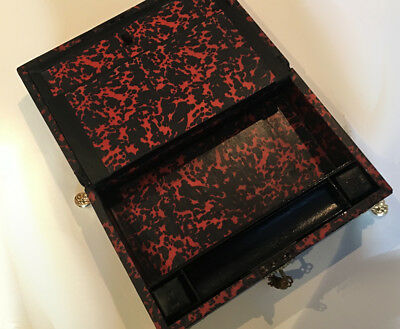 Antique French Ormolu Red Tortoise Shell Boulle  Writing Box Slope 8