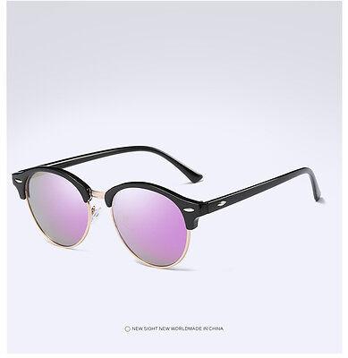 Fashion Vintage UV400 Outdoor Shades Women Mens Retro Round Polarized Sunglasses 12
