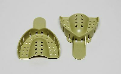Dental Plastic Disposable Impression Trays Perforated Autoclavable UM #3 12 Pcs 3