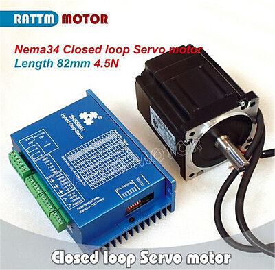 EU 3 x Nema34 4.5N.m CNC Kit Closed Loop Servo Motor 82mm &HSS86 Driver&3M Cable 2