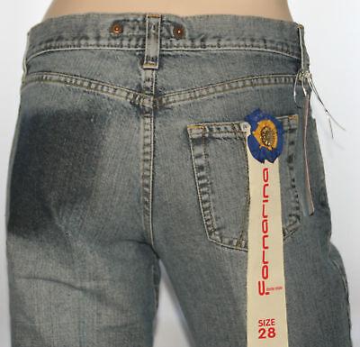 """""""Fornarina""""Damen Baumwolle Schlag Jeans Vintage Schlagjeans Hose blau 26,27 neu"""
