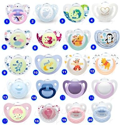 NUK Baby Dummy Pacifier teat / nipple soother Very Colorful free BPA many design 2