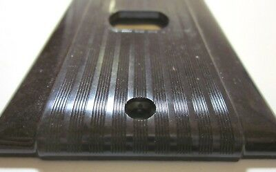 Uniline Despard Switch Wall Plate Cover Art Deco Ribbed Brown Bakelite Vintage 2