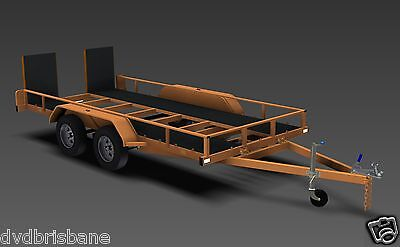 Trailer Plans - TILT FLATBED CAR TRAILER PLANS (14x6ft) - 2500kg - PLANS ON USB 5