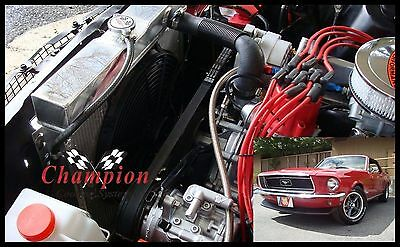 "4 Row Perf Radiator Lowerhose Driver 20/"" Core for 1970-1977 Ford Maverick"