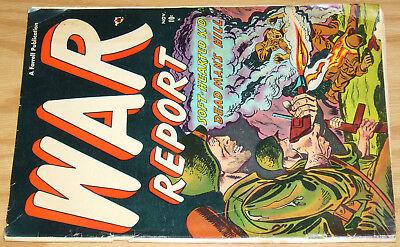 War Report #2 GD november 1952 - graphic flamethrower cover art - golden age