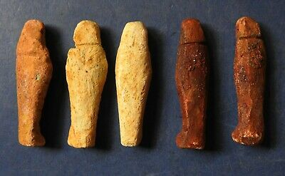 Collection Of Five Ancient Egyptian Miniature Shabti (2) 2