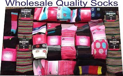 24 Pairs Christmas Gift Ladies Women Designer Socks Wholesale Job Lot Clearance 2
