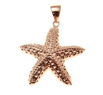 21mm Hawaiian 14k Rose Gold Over Sterling Silver Beaded Pe`a Starfish Pendant #3