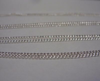 """Beautiful, Sterling Silver 1.5 mm Curb Chain Necklace + GIFT BAG 26""""  long. 3"""