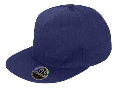 Snapback Baseball Cap Plain Classic Retro Hip Hop Adjustable Flat Peak Hat 4