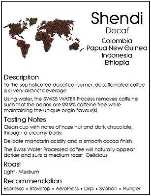 2KG DONGOLA SHENDI Swiss Water Decaf Coffee Beans Premium Blend Fresh Roasted