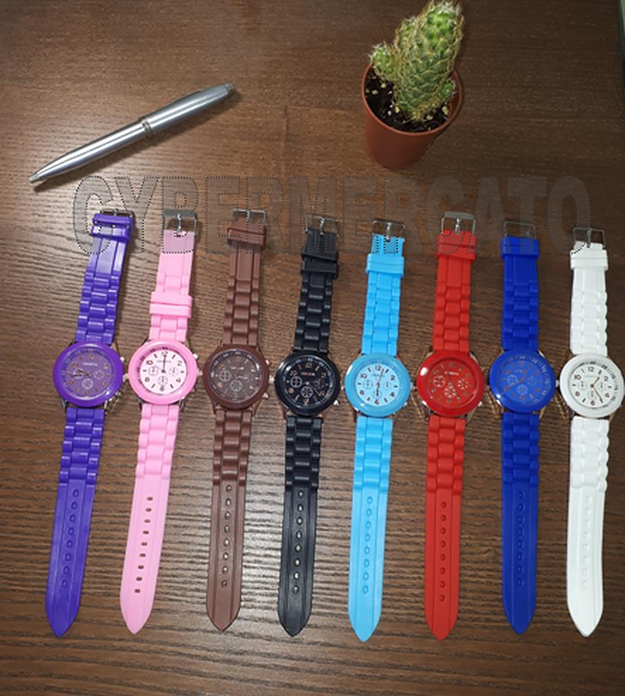 Orologio Donna Geneva Sportivo Jelly Silicone Cinturino da Polso Vari Colori 2