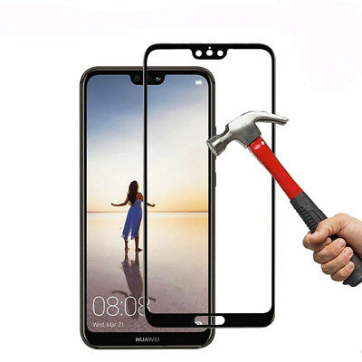 For Huawei P20 Pro Lite Premium Full Cover Tempered Glass Film Screen Protector 3