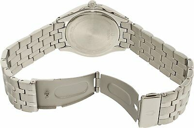 Bulova Men's 96B265 Quartz Black Dial Silver-Tone Bracelet 41mm Watch 5