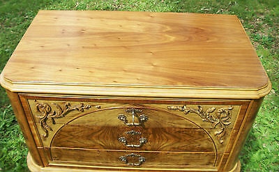 Marquetry Antique Furniture Highboy Chest Drawers Dresser French Provincial 9