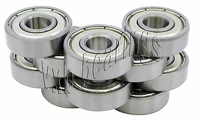 """10 Ball Bearing R168 ZZ Z 2Z 1//4/""""x 3//8/""""x 1//8/"""" Shielded"""