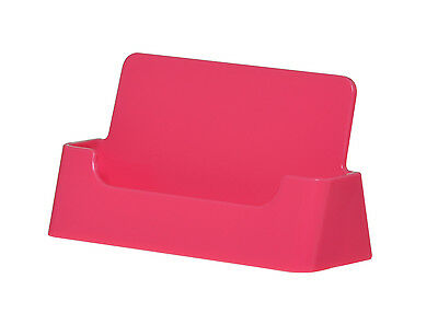 1 of 3free shipping qty 2 pink plastic business card holder display stand wholesale stand - Plastic Business Card Holders