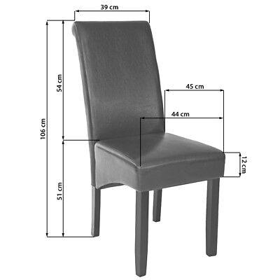 Lot de 2 chaises de salle à manger chaise meuble noir 105cm bois