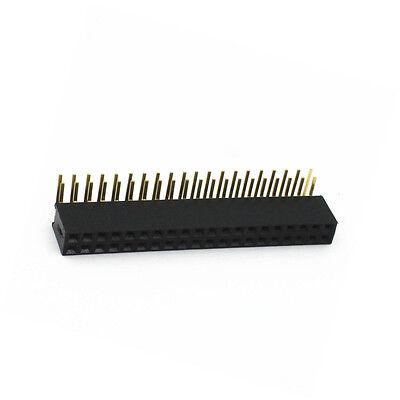 10 PCS 2.54mm Double Row 2X20 40Pin Female Right Angle Header Socket Pin Strip 4