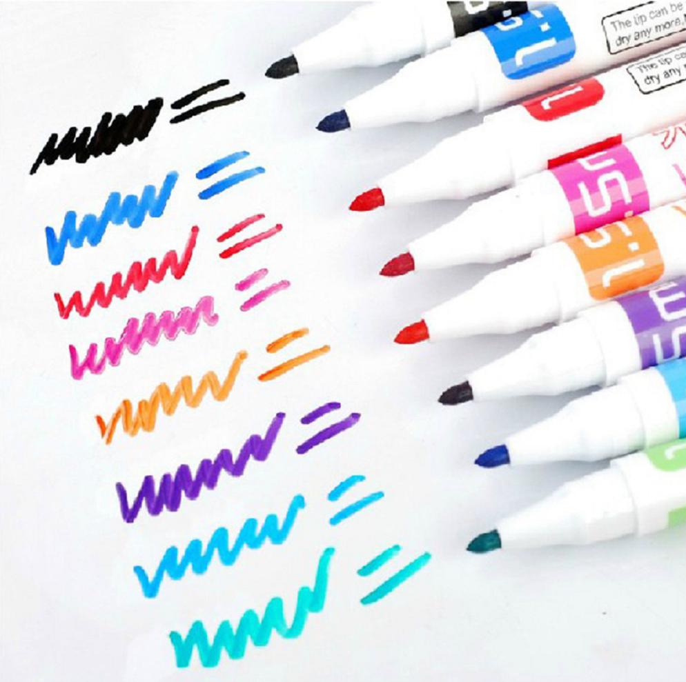 8 Colour Set Kids Whiteboard Marker Non Toxic Dry Erase Easy Wipe Bullet Tip Pen 3